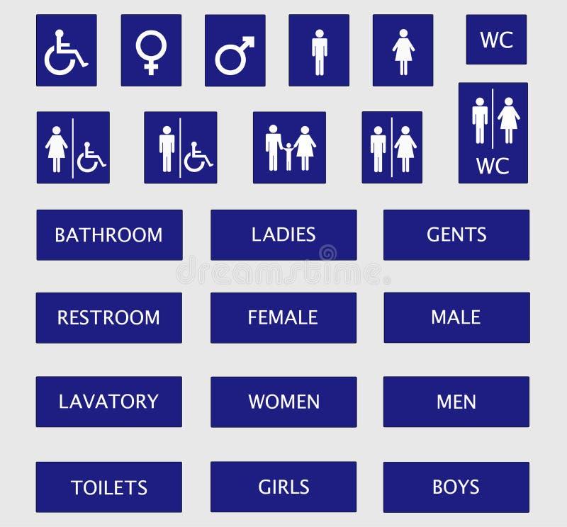 De tekens van het toilet