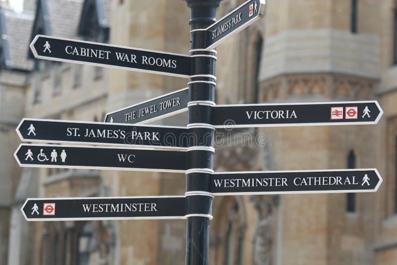 De Tekens van Londen stock fotografie