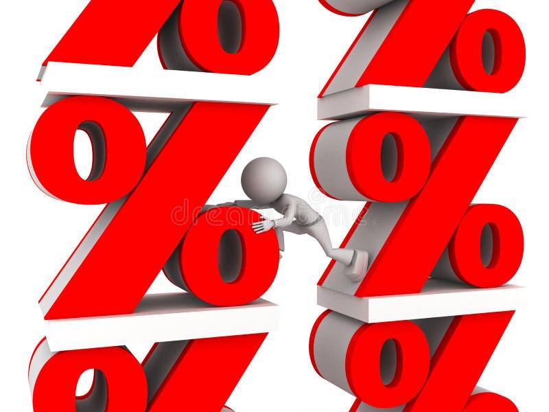 De tekens van percenten stock illustratie