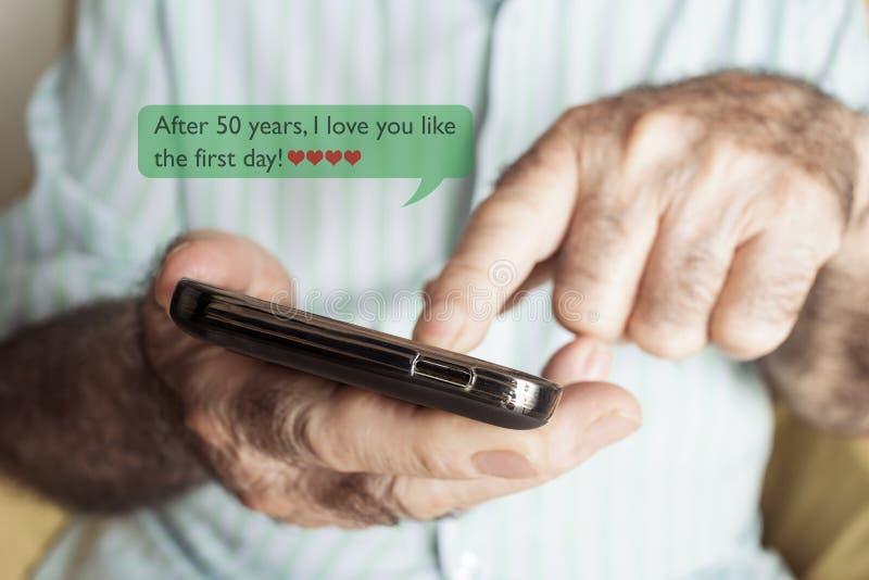De tekst na 50 jaar I liefde u houdt van de eerste dag royalty-vrije stock afbeeldingen