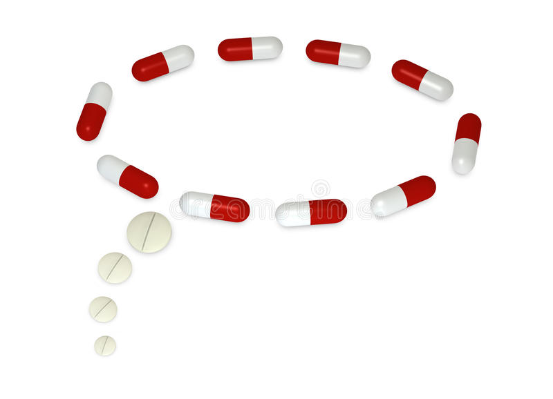 De tekst van de ballon - pillen vector illustratie