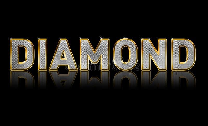 De Tekst van de Diamant van Bling vector illustratie