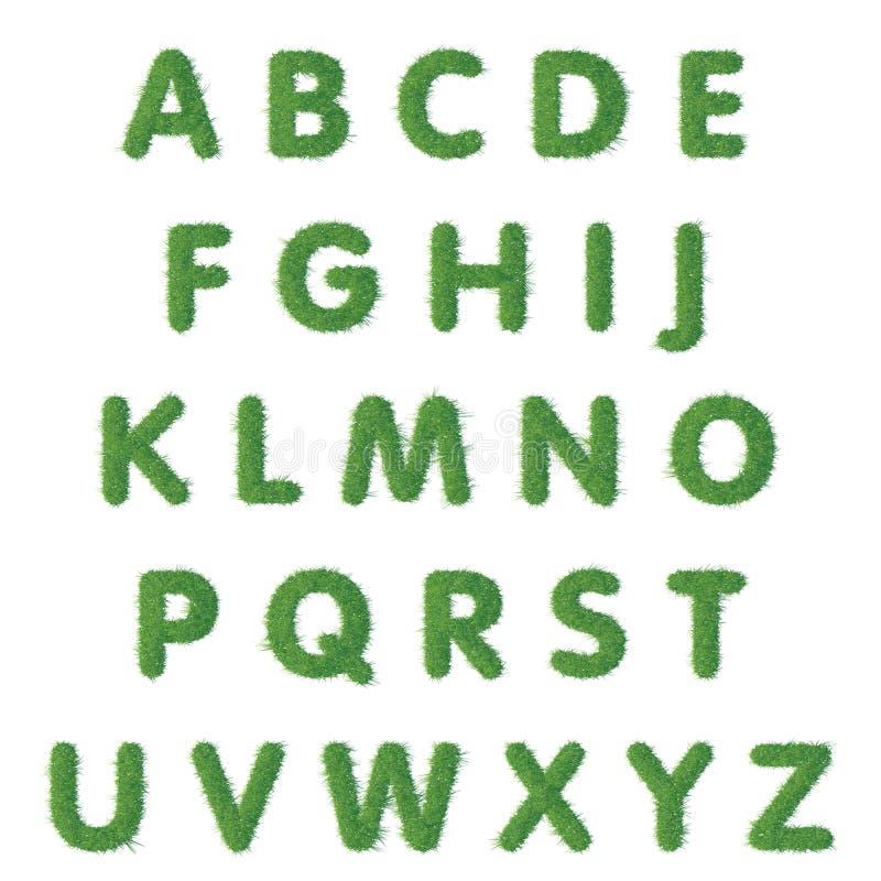 De tekst van de kappenbrief van groen gras vector illustratie