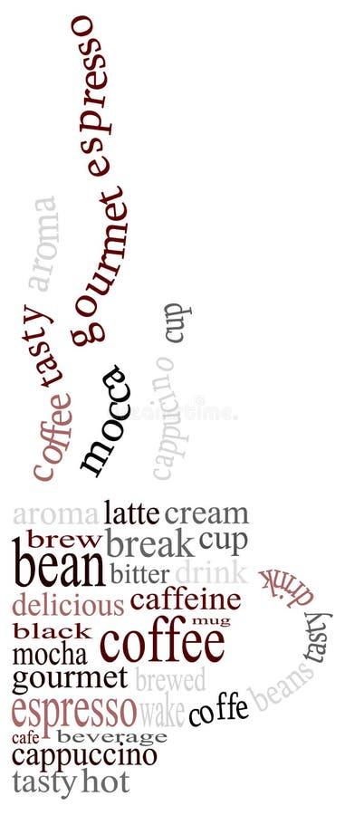 De tekst van de koffie royalty-vrije illustratie