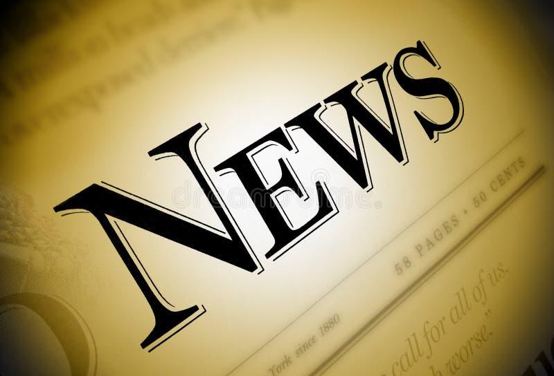 De Tekst van de Krant van het nieuws stock foto's