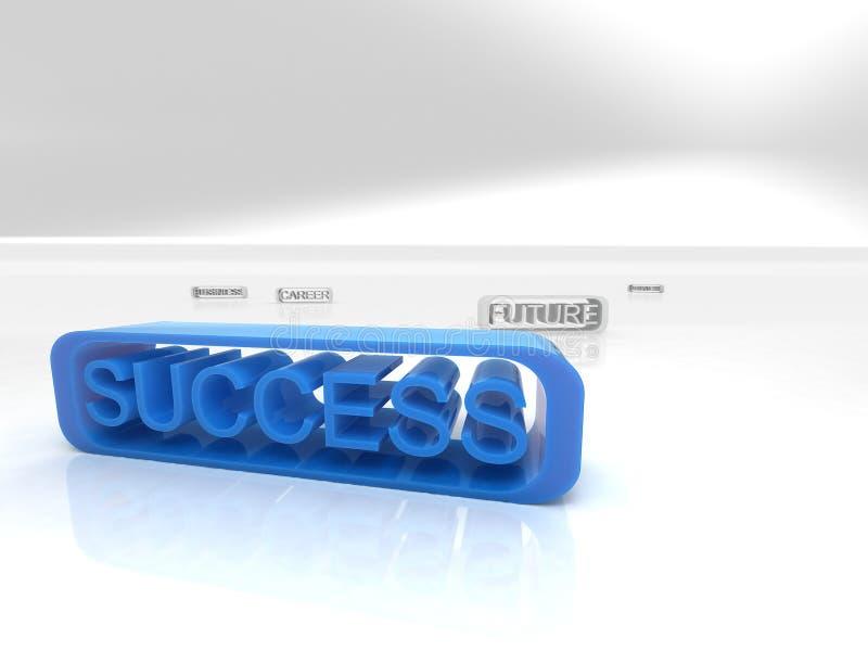 De tekst van het succes royalty-vrije illustratie