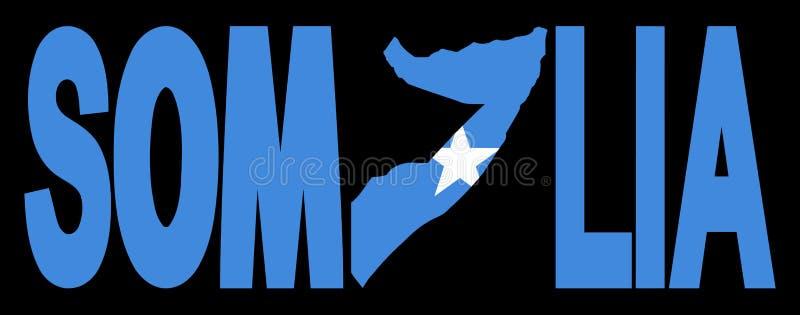 De tekst van Somalië met kaart vector illustratie