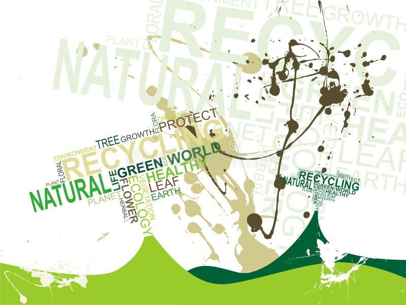 De tekstachtergrond van de ecologie vector illustratie