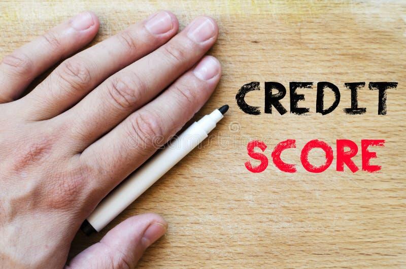 De tekstconcept van de kredietscore royalty-vrije stock fotografie
