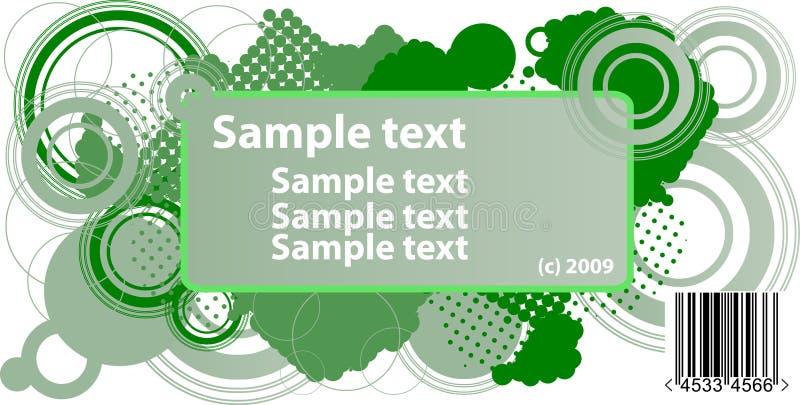 De tekstframe van de steekproef royalty-vrije illustratie