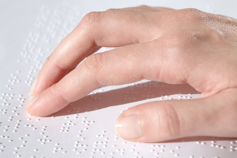 De tekstlezing van braille royalty-vrije stock foto