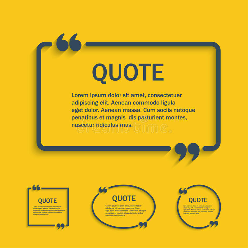 De tekstvakje van de citaatlijn met geplaatste komma's stock illustratie