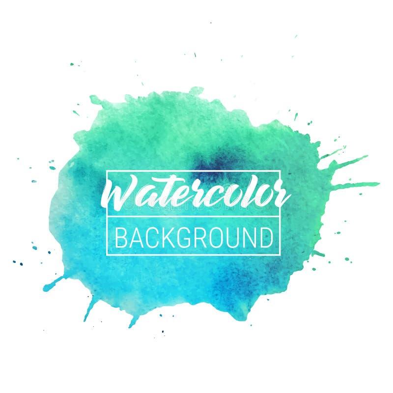 De tekstvakje van de waterverfvlek vectorachtergrond De geïsoleerde vector van de waterverfvlek voor verkoop, Web, banner Waterve royalty-vrije illustratie