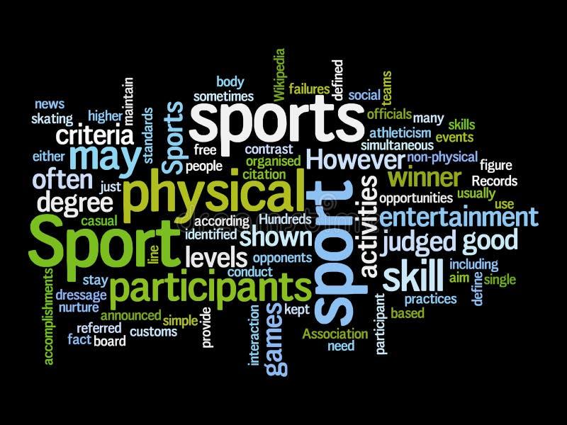De tekstwolken van de sport stock illustratie