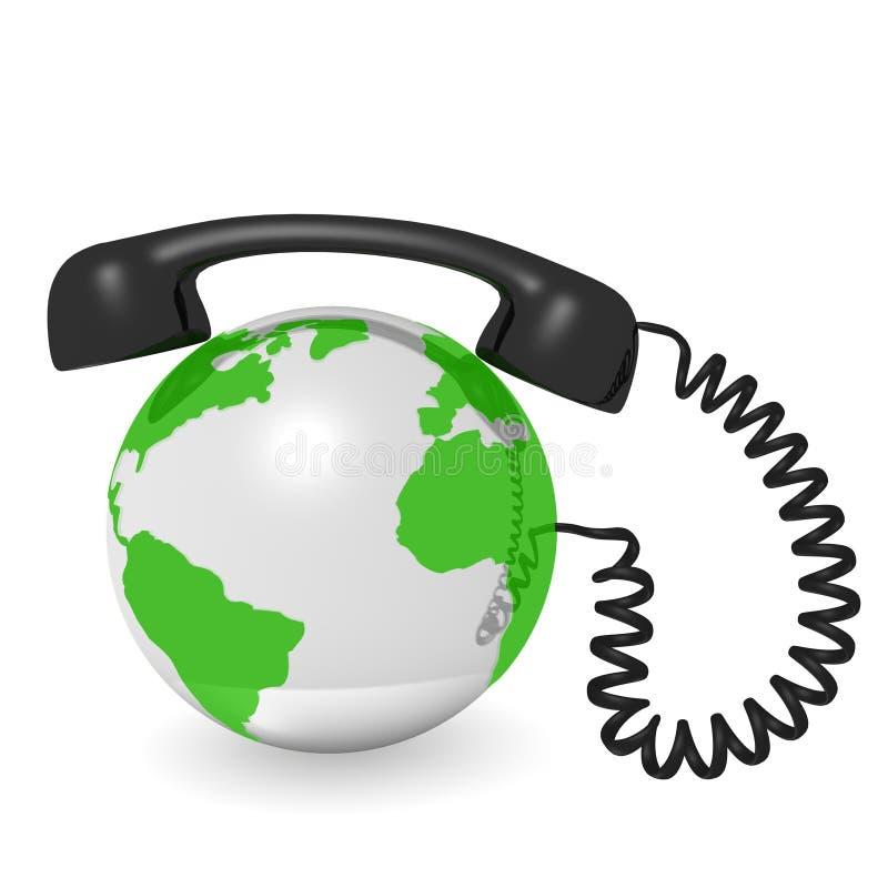 De telefonie van Internet royalty-vrije illustratie