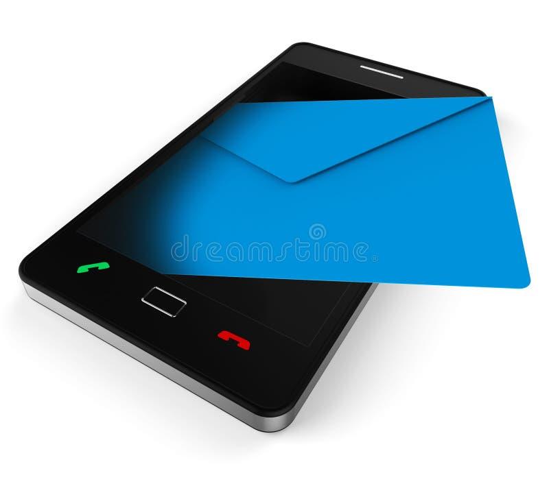 De telefoon E-mail vertegenwoordigt World Wide Web en Praatje vector illustratie