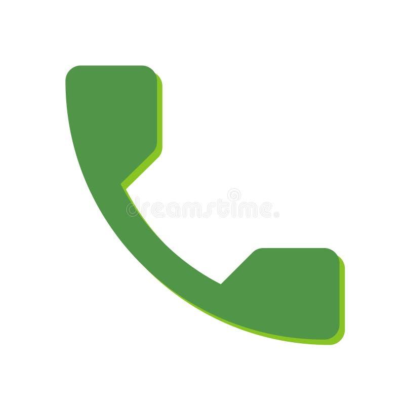 De telefoon keurt pictogram op een witte achtergrond goed royalty-vrije illustratie