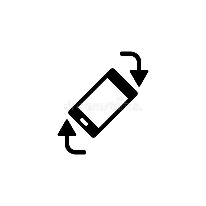 De telefoon, roteert, pijlen vectorpictogram Eenvoudige elementenillustratie van UI-concept Mobiele concepten vectorillustratie D vector illustratie