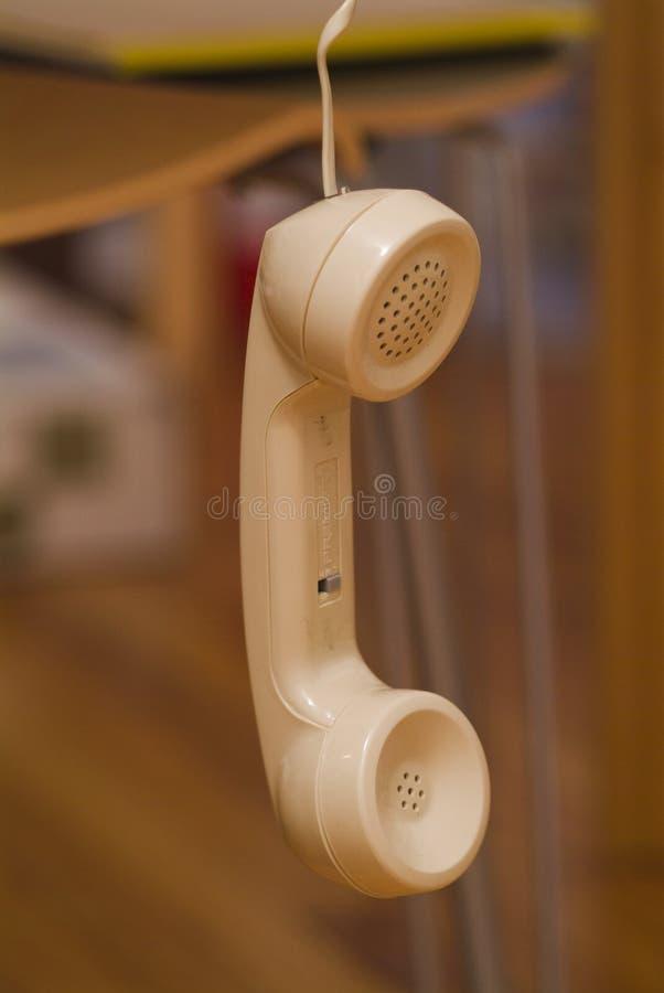 De telefoon is van de haak royalty-vrije stock afbeeldingen