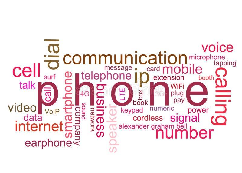 De telefoon van de illustratie royalty-vrije stock afbeeldingen