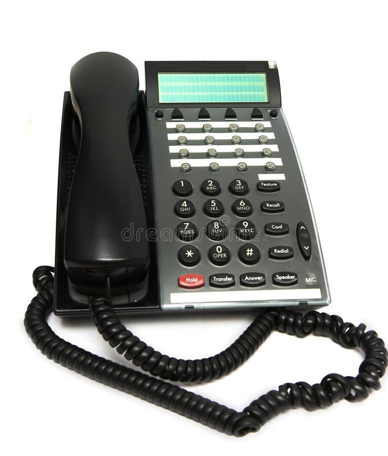 De telefoon van het bureau op wit stock fotografie