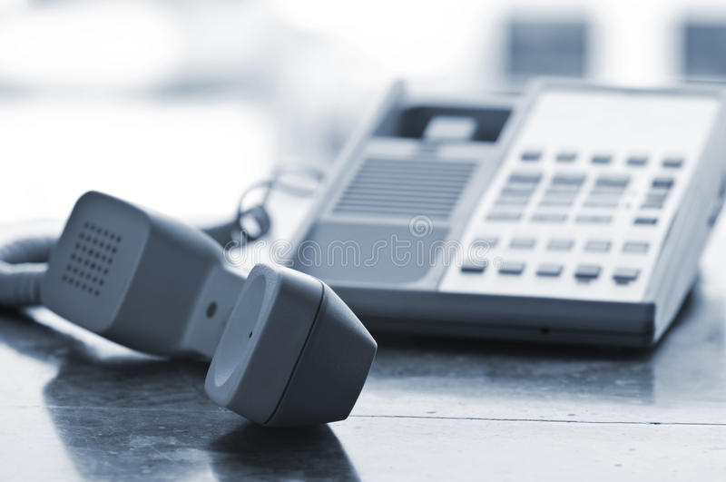 De telefoon van het bureau van haak royalty-vrije stock afbeelding