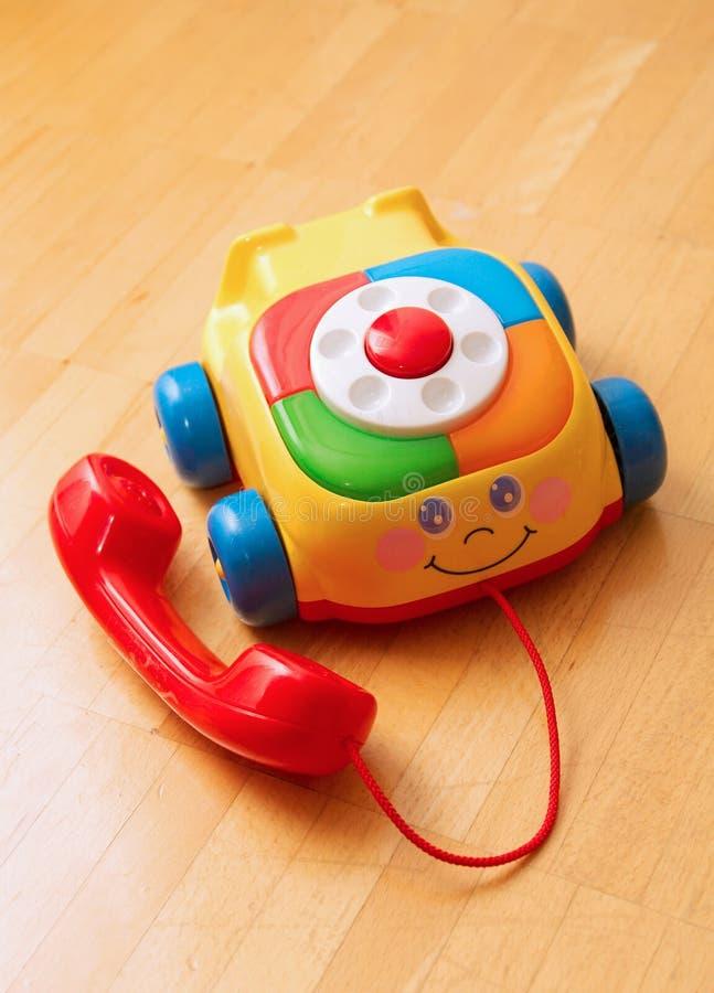 De telefoon van het stuk speelgoed stock foto's