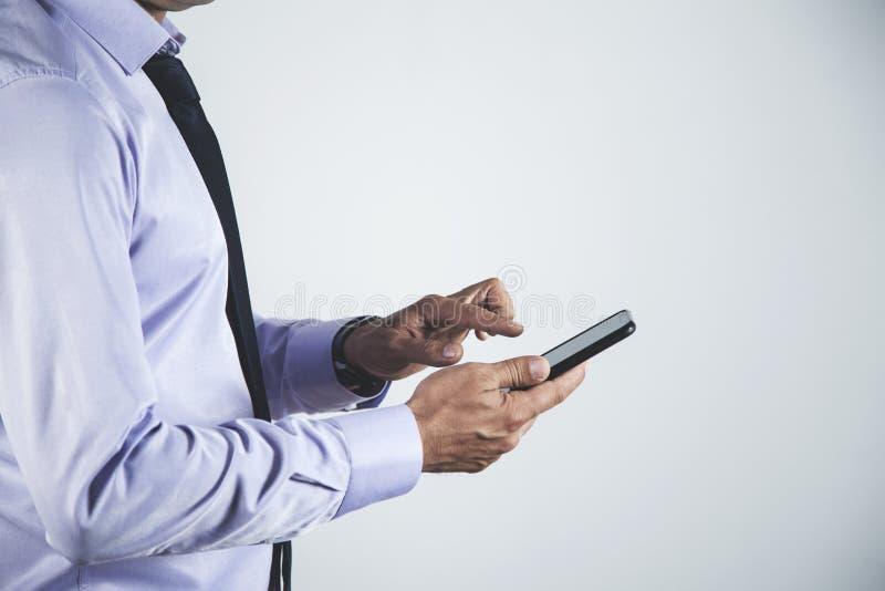 De telefoon van de mensenhand stock foto's