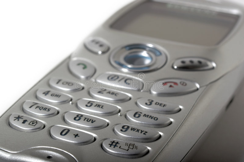 De telefoon zeer belangrijk stootkussen van de cel royalty-vrije stock foto