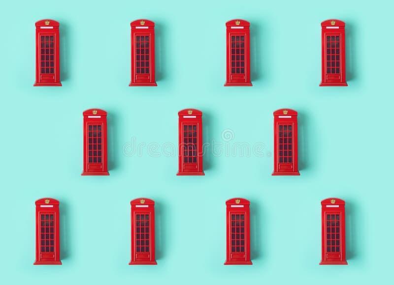 De telefooncel van Londen rood patroon als achtergrond stock foto's