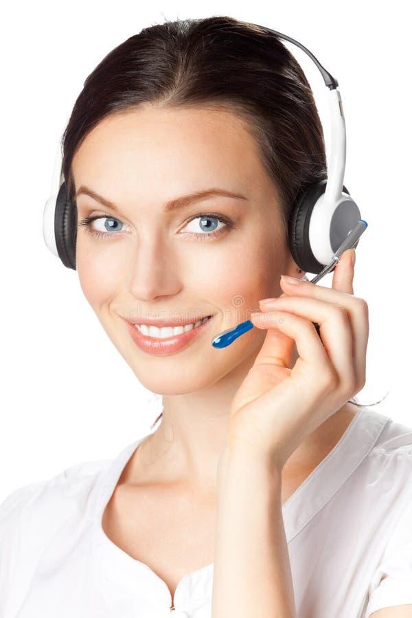 De telefoonexploitant van de steun stock foto