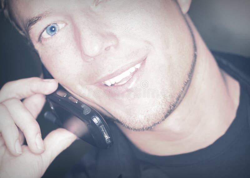 De telefoonpret van de cel stock foto