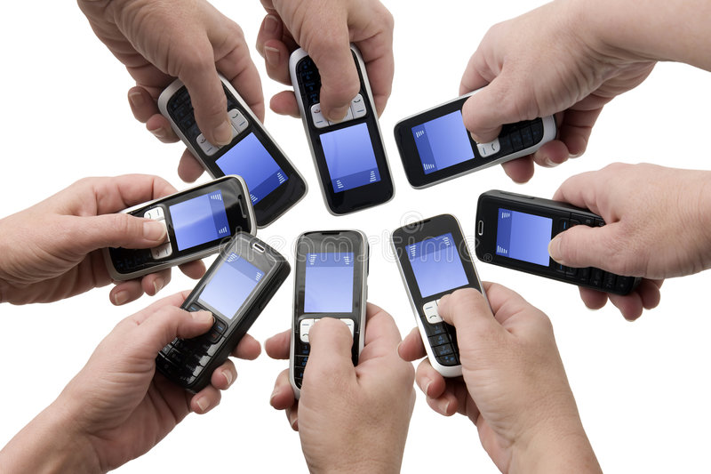 De Telefoons van Mobil - Lege tekstvakjes stock foto