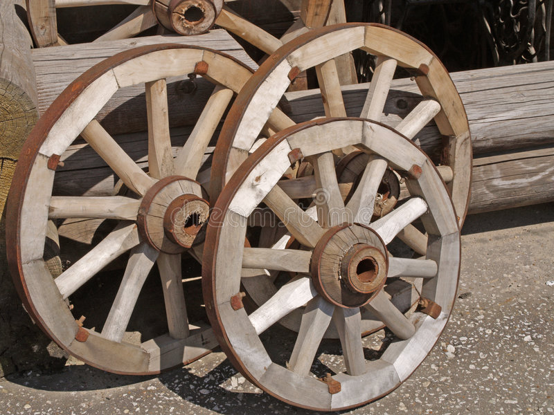 De telegawielen. stock afbeelding