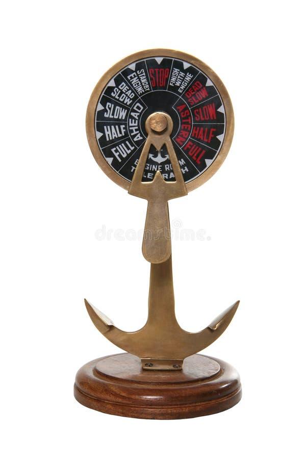 De Telegraaf van de Motor van het schip royalty-vrije stock afbeelding