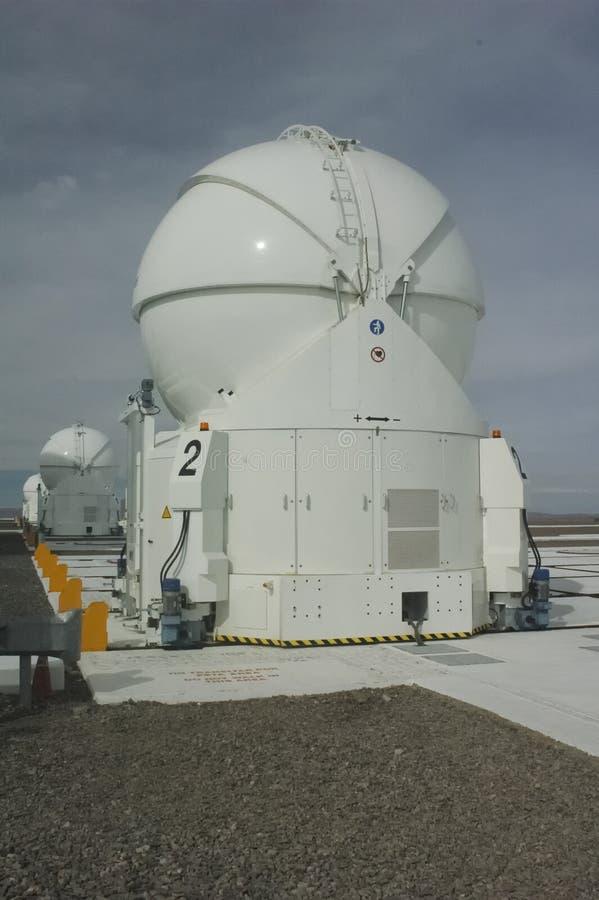 De telescopen van het Paranal-Waarnemingscentrum stock fotografie