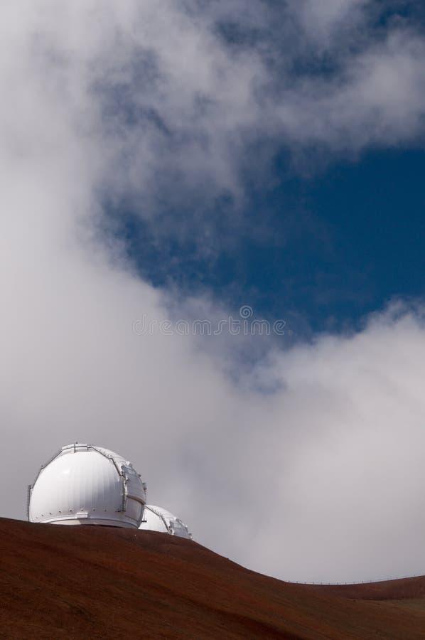 De telescopen van Keck, Mauna Kea, Groot Eiland, Hawaï stock fotografie
