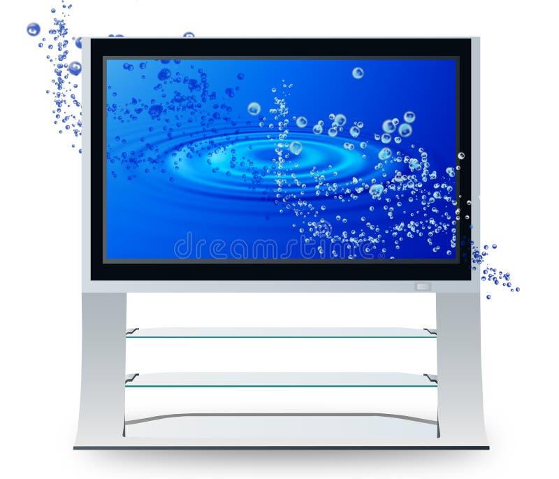De televisie van het de rimpelingsplasma van Aqua stock illustratie