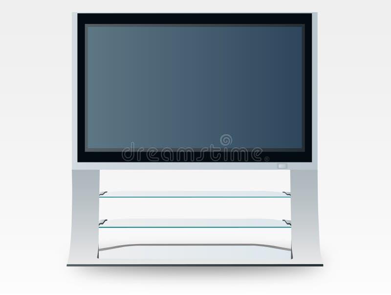 De televisie van het plasma (vector) royalty-vrije illustratie