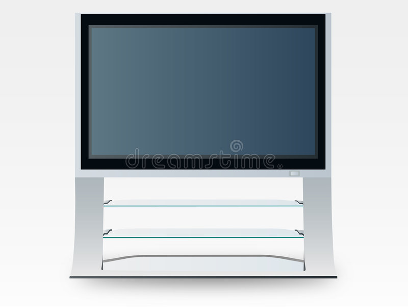 De televisie van het plasma (vector) stock illustratie