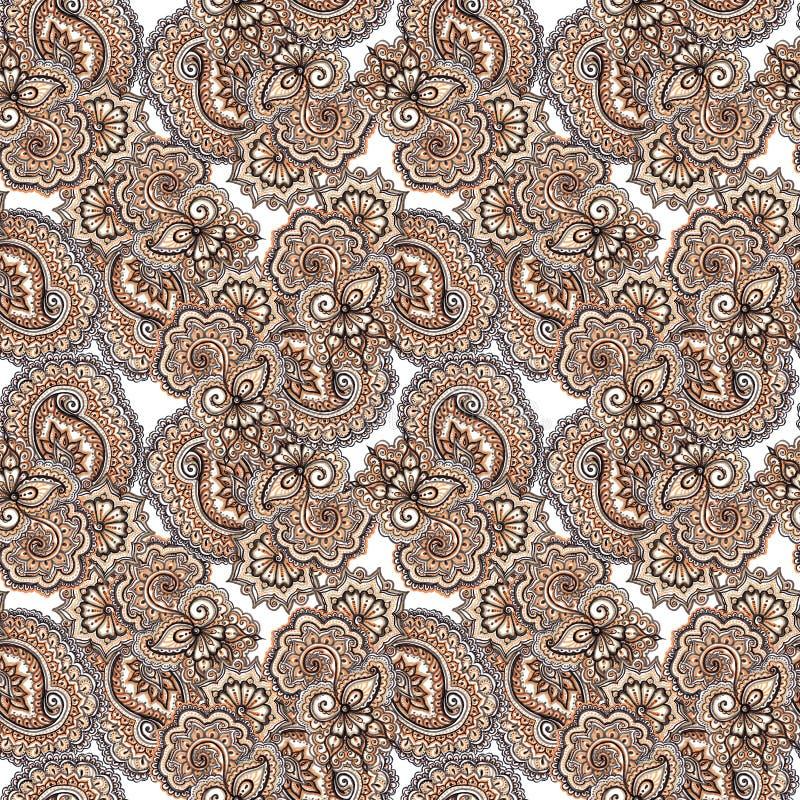 De teller schilderde abstract etnisch ornament Het herhalen van decoratief patroon stock foto's