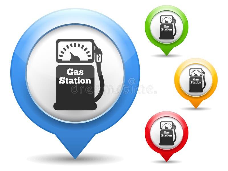 Het Pictogram van het benzinestation stock illustratie