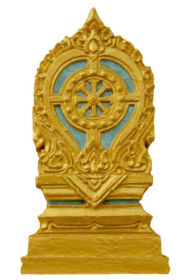 De teller van de Semagrens van een tempel, symbool van boeddhismekerk stock afbeelding