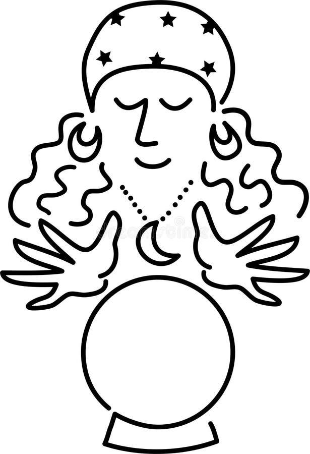 De Teller van het Fortuin van het beeldverhaal vector illustratie