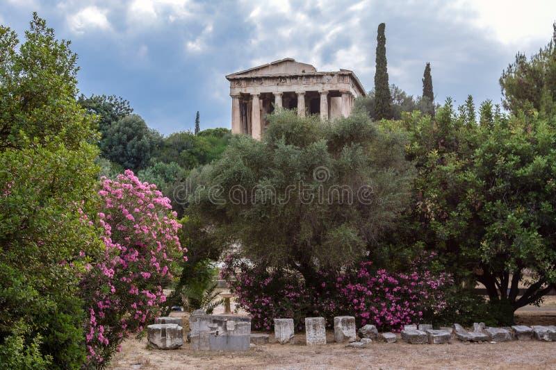 De Tempel Athene Griekenland van Hephaestus stock afbeelding