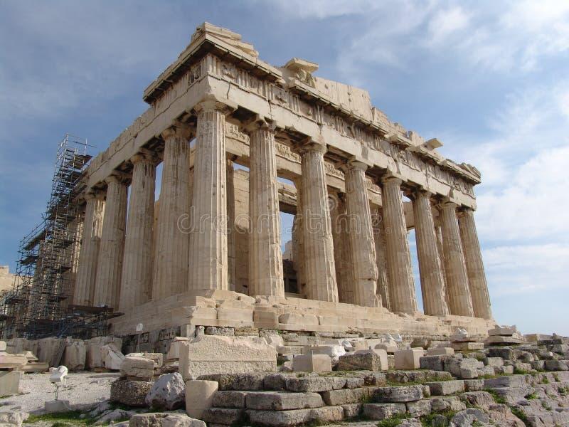 De tempel Athene van Parthenon stock foto's