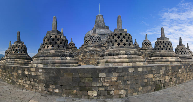 De tempel Borobudur van Buddist. Yogyakarta. Indonesië stock fotografie