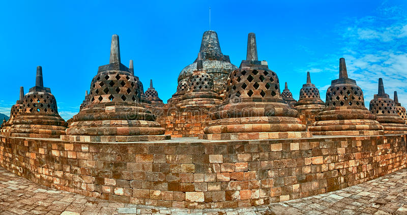De tempel Borobudur van Buddist Yogyakarta Yogyakarta, Indonesië royalty-vrije stock afbeeldingen