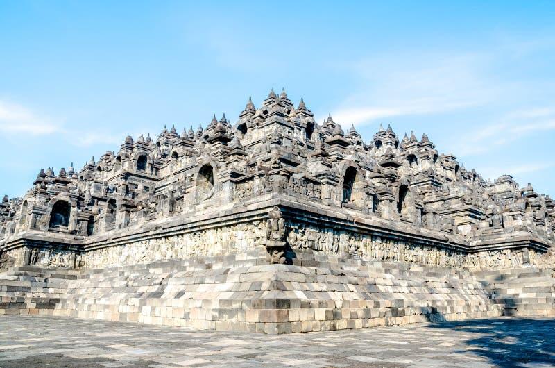 De tempel Borobudur van erfenisbuddist in Yogjakarta in Java, indones stock afbeelding