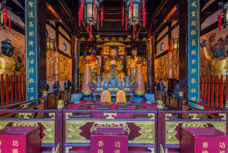 De tempel Chenghuang Miao Shanghai China van de stadsgod royalty-vrije stock foto's